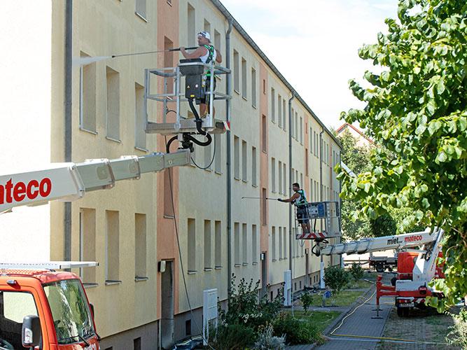 Das FassadenFix Reinigungsverfahren