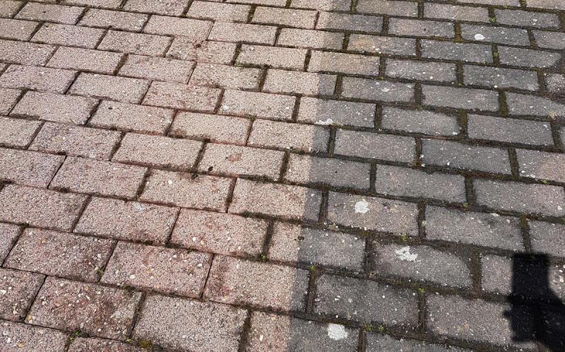 Steinboden reinigen: das Ergebnis