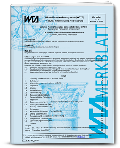 Merkblatt zu Wartung und Instandsetzung bei der Fassadenreinigung
