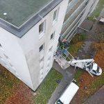 Fassadenreinigung einer Wohnimmobilie
